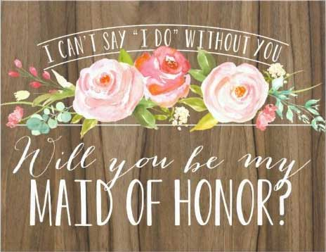 I Can't say I do without you. Will you be my maid of honour? | zazzle.ca