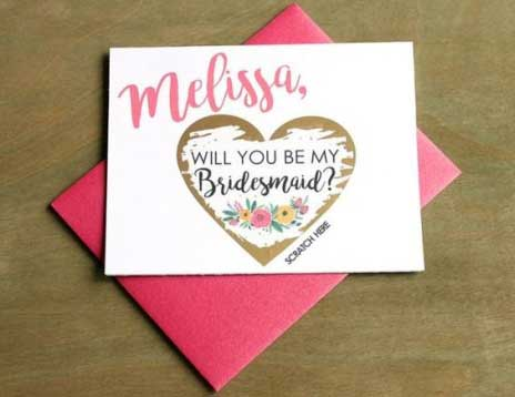 Will you be my bridesmaid? Scratch card for your bridesmaids | Wedbook.com