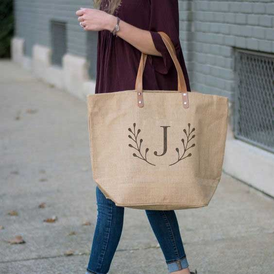 Monogrammed Totes from https://www.etsy.com/ca/listing/386154204/
