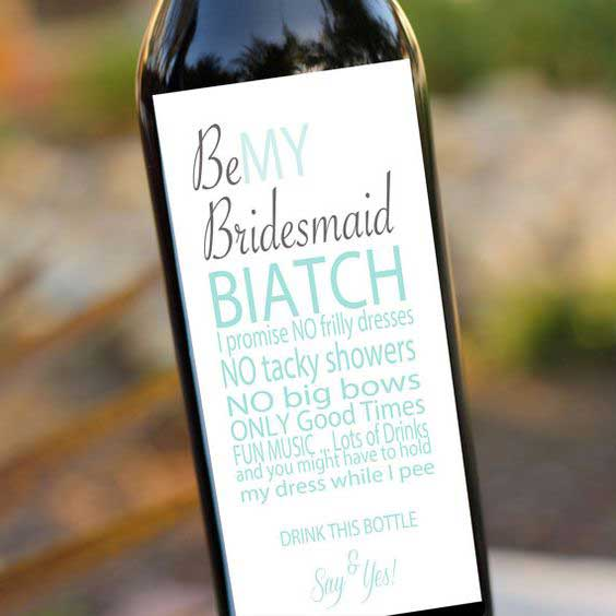 Personalized wine labels to give your #bridalsquad from Etsy.com