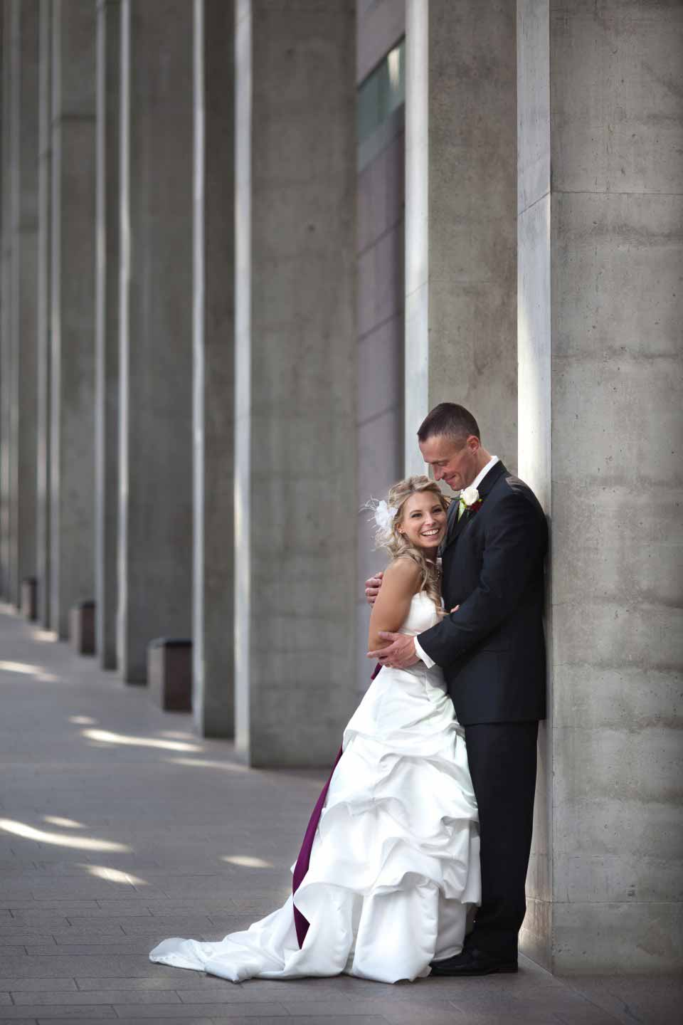 Bride and Groom at National Gallery of Canada | Al's Steakhouse Ottawa | Neville Black