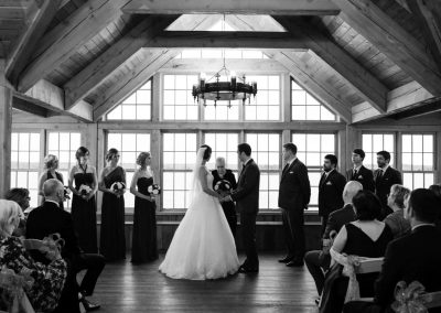 Ceremony in loft view of 1000 Islands | The Ivy Lea Club | AMBPhoto