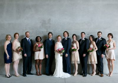 Urban photo of bridal party concrete bridge background | Ottawa Locks| Union Eleven Photographers