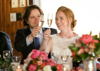 Bride and Groom toasting with champagne | Britannia Yacht Club| Union Eleven Photographers