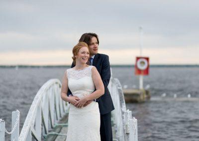 Couple on white bridge | Britannia Yacht Club | Union Eleven Photographers