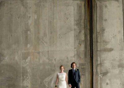 Urban photo of Bride and Groom concrete bridge background | Ottawa Locks| Union Eleven Photographers