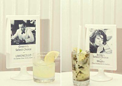His and her's signature drinks | Sala San Marco | Renaissance Studios