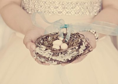 Nest with eggs and wedding rings | Wedding Details | Renaissance Studios