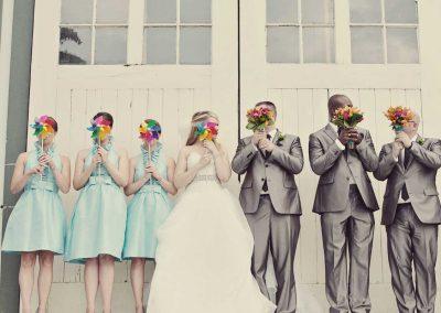 Bridal party with pinwheels | Sala San Marco | Renaissance Studios