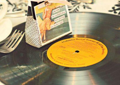Anne Taintor favor vinyl record charger | Sala San Marco | Renaissance Studios