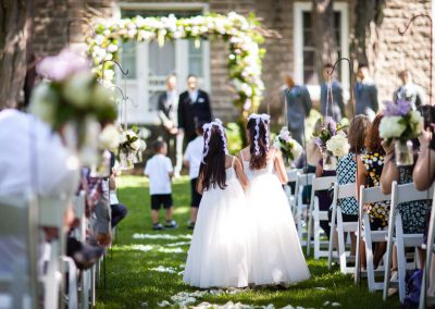 Flowergirls outdoor ceremony | Stonefields Heritage Farm | Themotions Photography