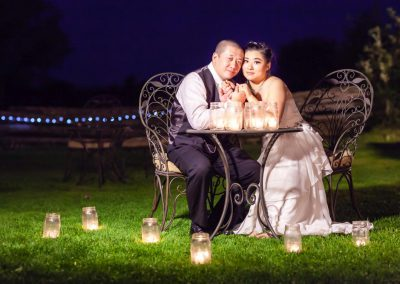 Candlelit wedding couple photo | Stonefields Heritage Farm | Themotions Photography