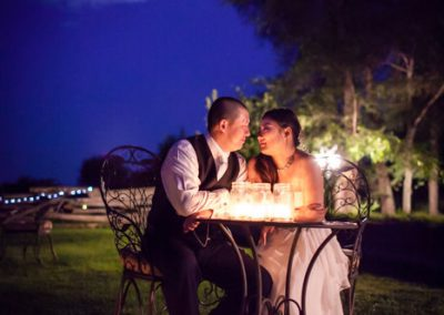 Bride and groom moonlight photo | Stonefields Heritage Farm | Themotions Photography