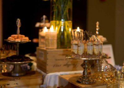 Mini tiramisu maracons dessert bar | Fairmont Chateau Montebello | Urban Bent Studio
