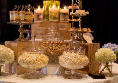 Popcorn on dessert bar | Fairmont Chateau Montebello | Urban Bent Studio