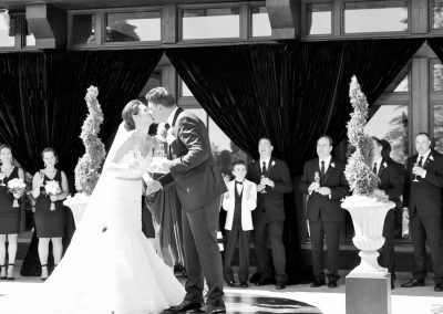 Champagne toast wedding ceremony | Fairmont Chateau Montebello | Urban Bent Studio