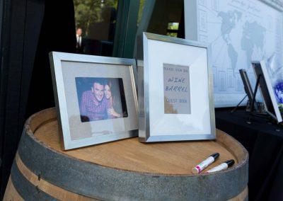 Wine barrel guest signing | Fairmont Chateau Montebello | Urban Bent Studio