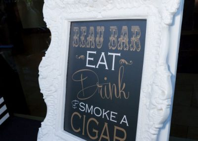 Sign for cigar bar | Fairmont Chateau Montebello | Urban Bent Studio