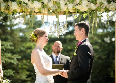 Outdoor ceremony floral archway | Private Residence Wedding | Union Eleven Photographers