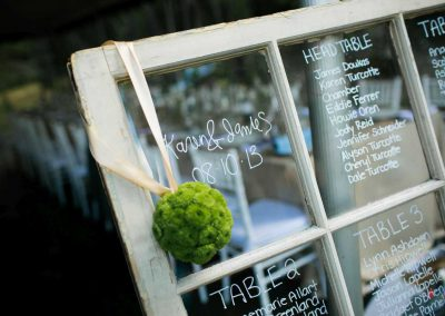 Rustic window seating chart | Private Residence Wedding | Union Eleven Photographers