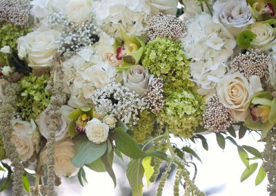 Roses amaranthus rice flower hydrangea | Private Residence Wedding | Union Eleven Photographers
