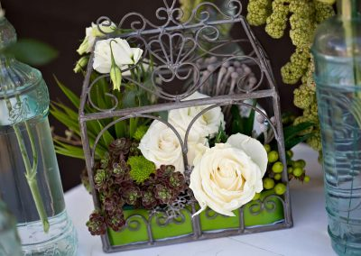 Centerpiece succulents iron cage | Private Residence Wedding | Union Eleven Photographers