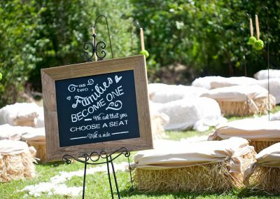 Pick a seat not a side sign | Private Residence Wedding | Union Eleven Photographers