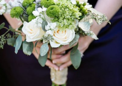 Bouquet white roses seeded eucalyptus | Private Residence Wedding | Union Eleven Photographers