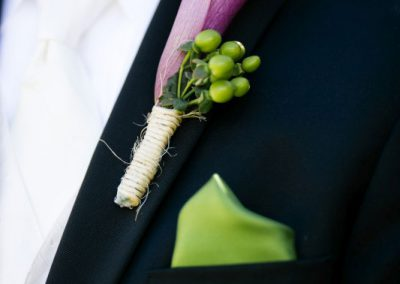Purple calla lily groom boutonniere | Private Residence Wedding | Union Eleven Photographers