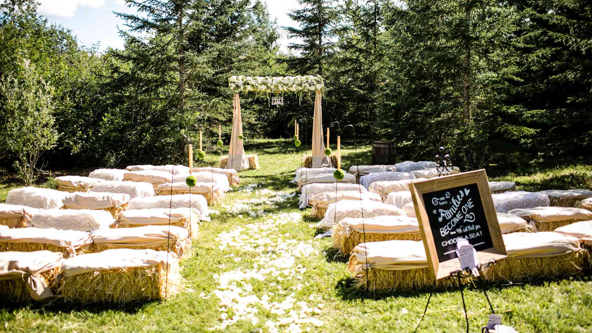 Outdoor rustic ceremony | Private Residence Carp ON | Union Eleven Photographers