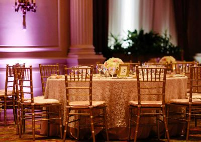 Gold chiavari chairs lace blush pink gold table number | Fairmont Chateau Laurier | Union Eleven Photographers