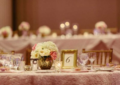 Blush pink white cream roses gold table number lace overlay | Fairmont Chateau Laurier | Union Eleven Photographers