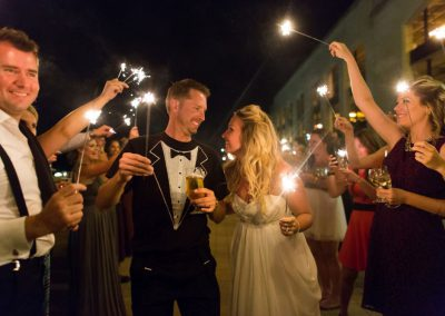Sparklers and champagne toast at wedding | Fairmont Chateau Laurier | Union Eleven Photographers