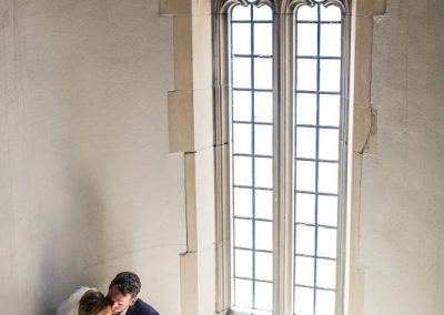 Couple in stairwell Knox Presbyterian Church | Fairmont Chateau Laurier | Union Eleven Photographers