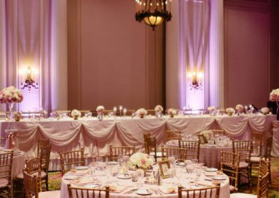 Laurier room blush pink and white wedding | Fairmont Chateau Laurier | Union Eleven Photographers