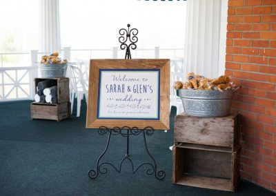 Wedding Welcome Sign wood frame crates | Rivermead Ottawa | AMBphoto