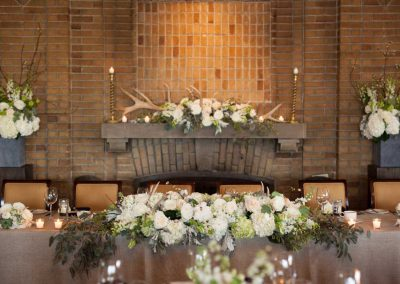 Floral Mantle Decor with Antlers | Rivermead Golf Club Ottawa | AMBphoto
