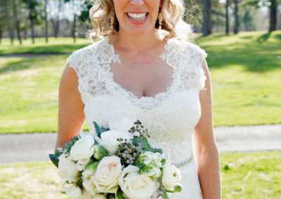 Beautiful Bride with white greenery succulents bouquet| Rivermead Golf Ottawa | AMBphoto