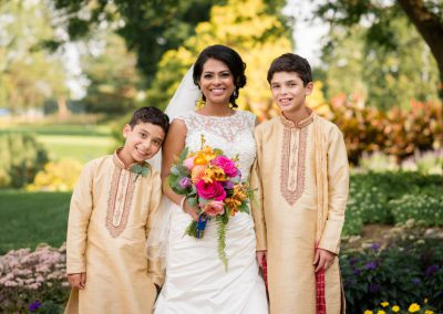 Bride with nephews in kurtas | Ottawa Hunt and Golf Club | Union Eleven Photographers